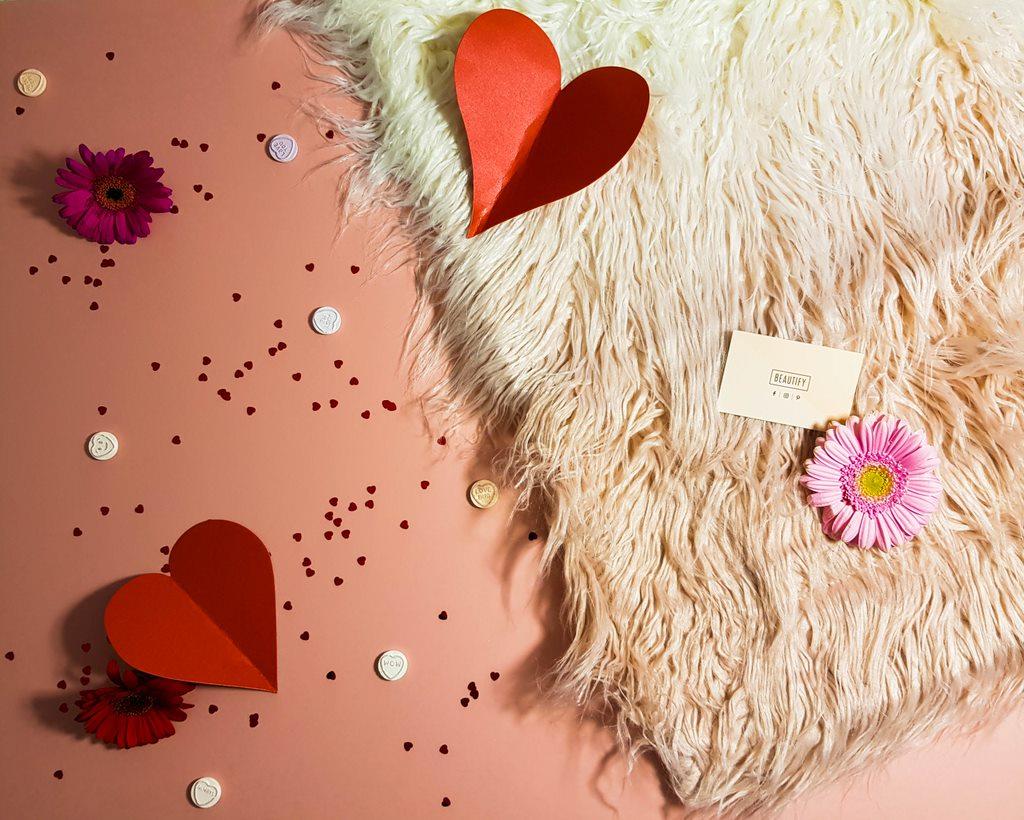 faux fur rug and cushion
